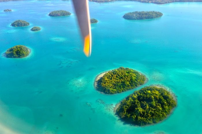 solomon islands aerial view